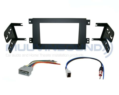 Radio Stereo Dash Kit Combo 2DIN Antenna Wire Harness SWC Interface HO37S