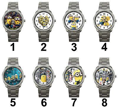 Minions Despicable Me 3D Animation Cartoon Movie Unisex Steel Analog Wrist Watch