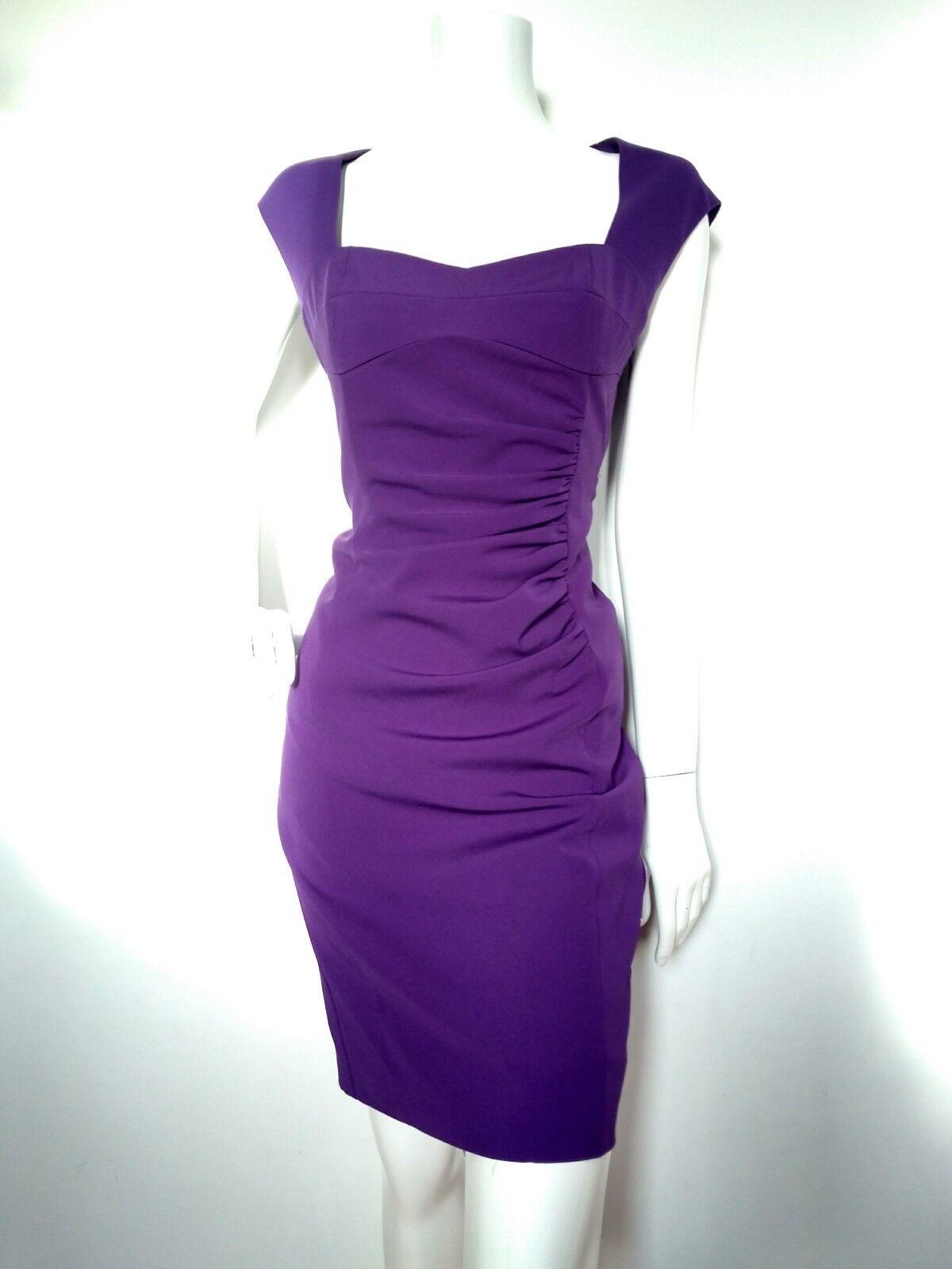 Designer LK BENNETT BENNETT BENNETT fitted shift dress size 12 -USED ONCE-knee length sweetheart 0b16e2