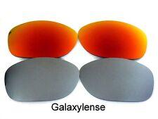Galaxy Lentes De Repuesto Para Oakley Pit Bull rojo y titanio Polarizadas 100%