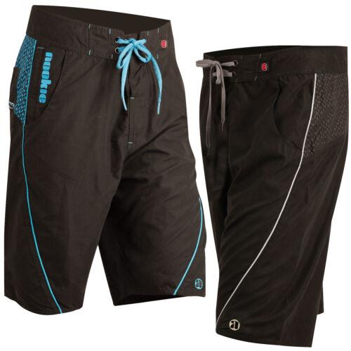 Nookie Boardies - Black with Blue or Grey - Board Shorts Surf Summer