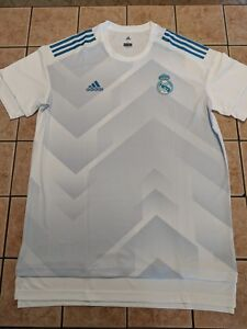 d5f5a6179ec Real Madrid Home Pre Match Shirt 17 18 Training Jersey White Adidas ...