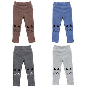 Hot-Cat-Print-Lovely-Kids-Baby-Girl-Baby-Tight-Pants-Stretch-Warm-Leggings-2-7Y