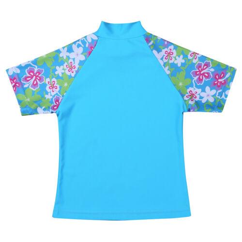 Kids Boys Girls Swimsuit Swimwear Rash Guard Bathing Suit UV 50 Sun Protection