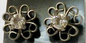 Objectif Boucles D'oreilles Bijou Percées Couleur Vieil Argent Cristal Diamant 2431 Et Aide à La Digestion