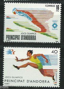 ANDORRA-Edifil-176-177-MNH-Set-Olimpiada-Olimpics-Sarajevo-Los-Angeles