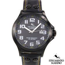 STRUMENTO MARINO HARBOUR Collection Gentlemens Date Watch sm046lbk/bk