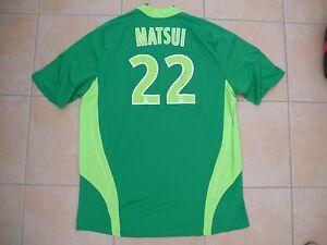 Maillot-football-ASSE-floque-du-numero-22-Matsui-signe-par-le-joueur-taille-XXL