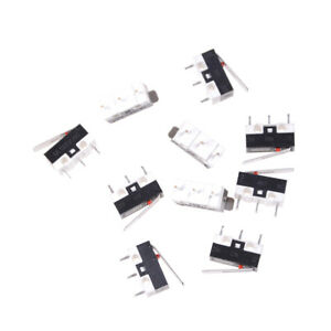 10Pcs-KW10-125V-1A-3-Terminals-Momentary-13mm-Lever-Arm-Micro-Switch-S-Kh