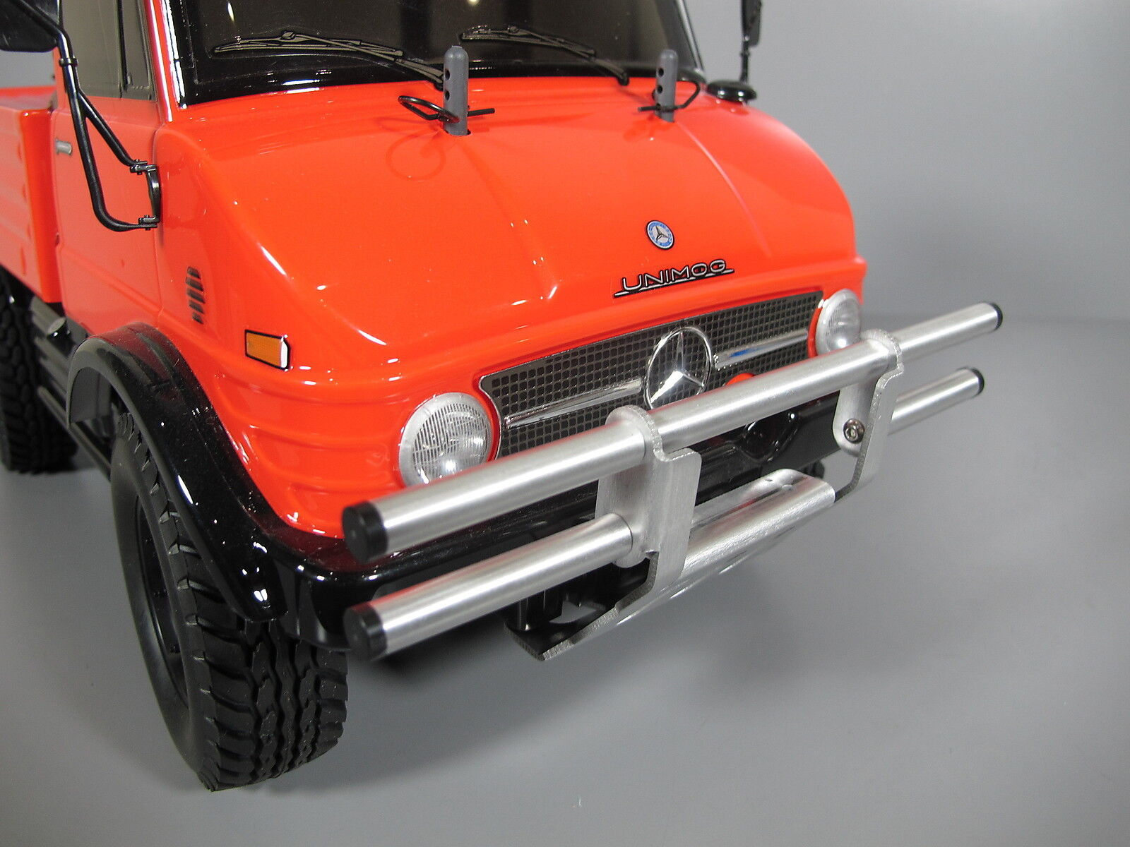Alum Front Bumper Guard Predector Bar Tamiya 1 10 CC01 Pajero Jeep Bronco Unmiog