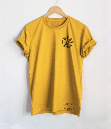 Viking Boussole T-shirt Viking Shirt Tattoo Vegvisir Rune poche hommes Tops Tees