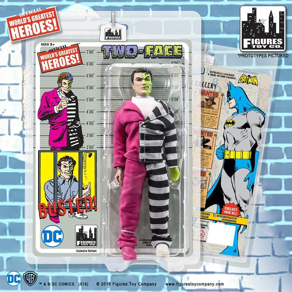 DC Comics Batman Retro 8 inch Action Figure Two-Face  NEW