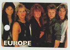 1980s UK Pop Star Card Swedish Europe Final Countdown Group Joey Tempest