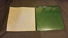 "Green stack on gun cabinet metal shelves 12 1/2"" x 12"" w/ foam pad"