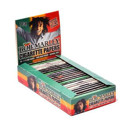 Bob Marley 1-1//4 ROLLING PAPERS box of 25 Booklet New Package Free Shipping