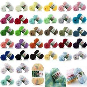 100-Bamboo-Cotton-Warm-Soft-Natural-Knitting-Crochet-Knitwear-Wool-Yarn-50g-New