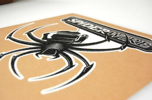 Multiple Sizes Bass Boat Carpet Graphic Spider Wire Decal Logo