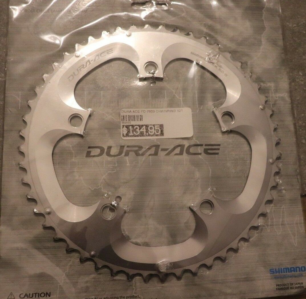 Shimano Dura Ace 52 t B Type 7800 130bcd 9 10 11 Speed Chainring NOS NIB