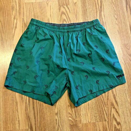 Vintage Polo Ralph Lauren Green Swim Shorts Trunks