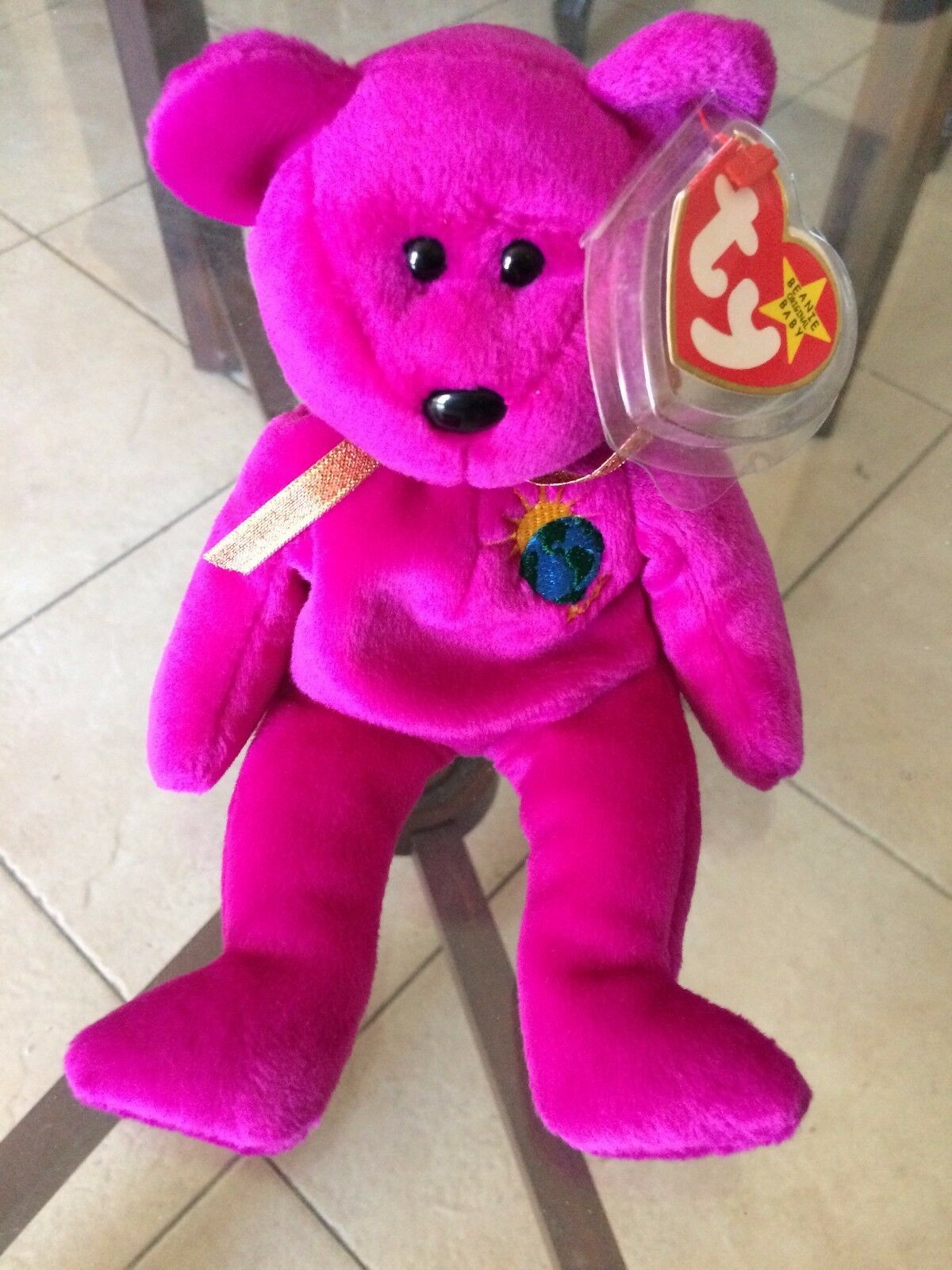 LIMITED EDITION Millennium Bear Original 1st variation Ty Beanie Baby w  ERRORS