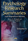 Psychology Research Summaries: Volume 4 by Nova Science Publishers Inc (Hardback, 2015)