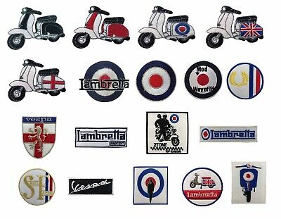 Lambretta Mod Motorcycle Embroidered Iron On Sew On Patch Badge New 539-Sh