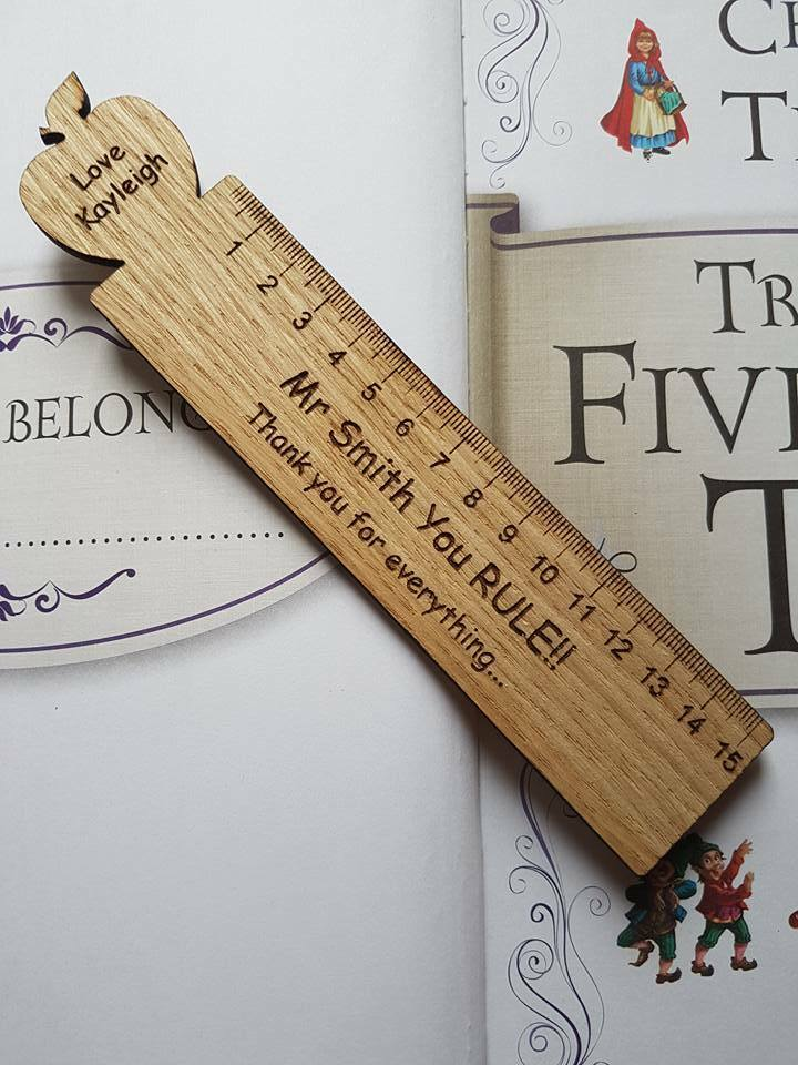 Personalised Teacher Gift End Of Term Ruler Bookmark Thank You Present Gifts