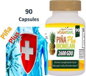 bromelain 2600 GDU 1000 mg inmune support 90 capsules