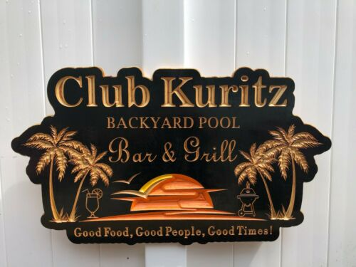 Palm Tree SignSunset signPersonalized Outdoor SignWood Engraved Sign