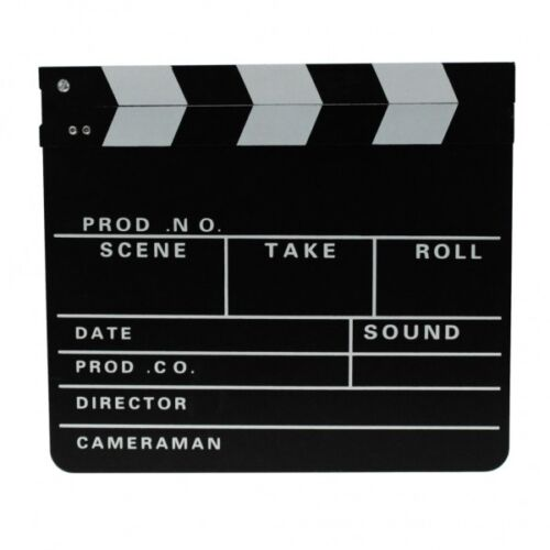 Filmklappe Regieklappe Clapperboard Regie Film Hollywood Klappe 30x26cm