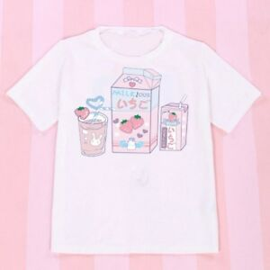 Girls-Japanese-Kawaii-Shirt-Cartoon-Print-Lolita-Short-Sleeve-White-Blouse-Cute