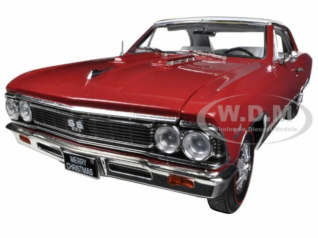 1966 CHEVROLET CHEVELLE SS 396 L78 CHRISTMAS EDITION rosso 1/18 AUTOWORLD AMM1041