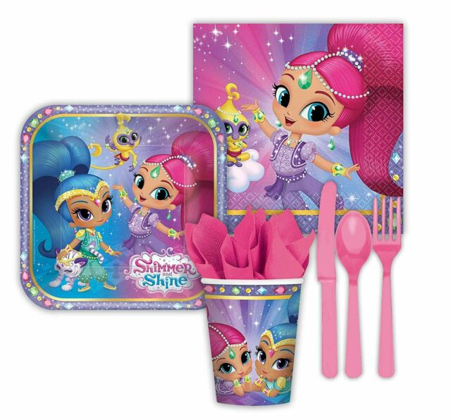 Shimmer /& Shine Party Supplies Express Pack for 8 Guests Cups Napkins, Plates