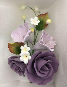 Elegant-Edible-Cake-Toppers-ROSE-SPRAYS-LEAVES-Birthday-Baptism-7colors-MEDIUM-4