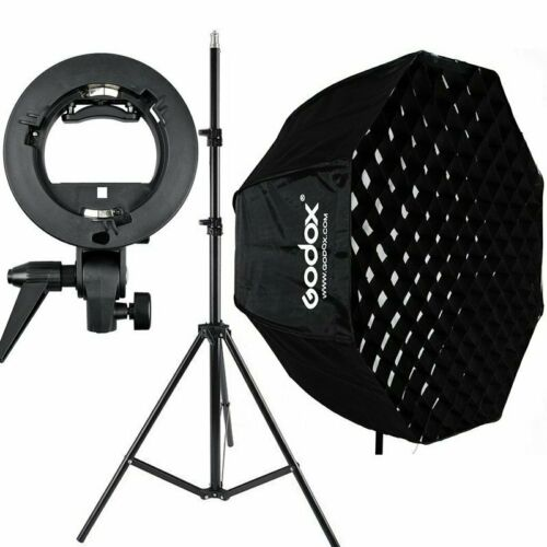 Stand S-type For Flash Speedlite GODOX 80cm Octagon Umbrella Softbox Grid