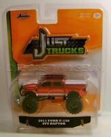 2011 '11 Ford F-150 Svt Raptor Red Just Trucks Diecast 2016 Jada Wave 12 Rare