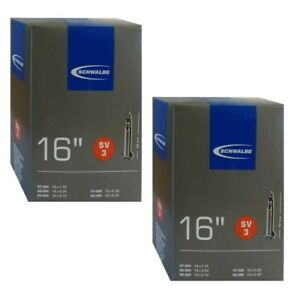 """1pack-4packs Schwalbe SV3 16/""""x1.75-2.50 Presta Valve Tern Dahon Bike Inner Tube"""