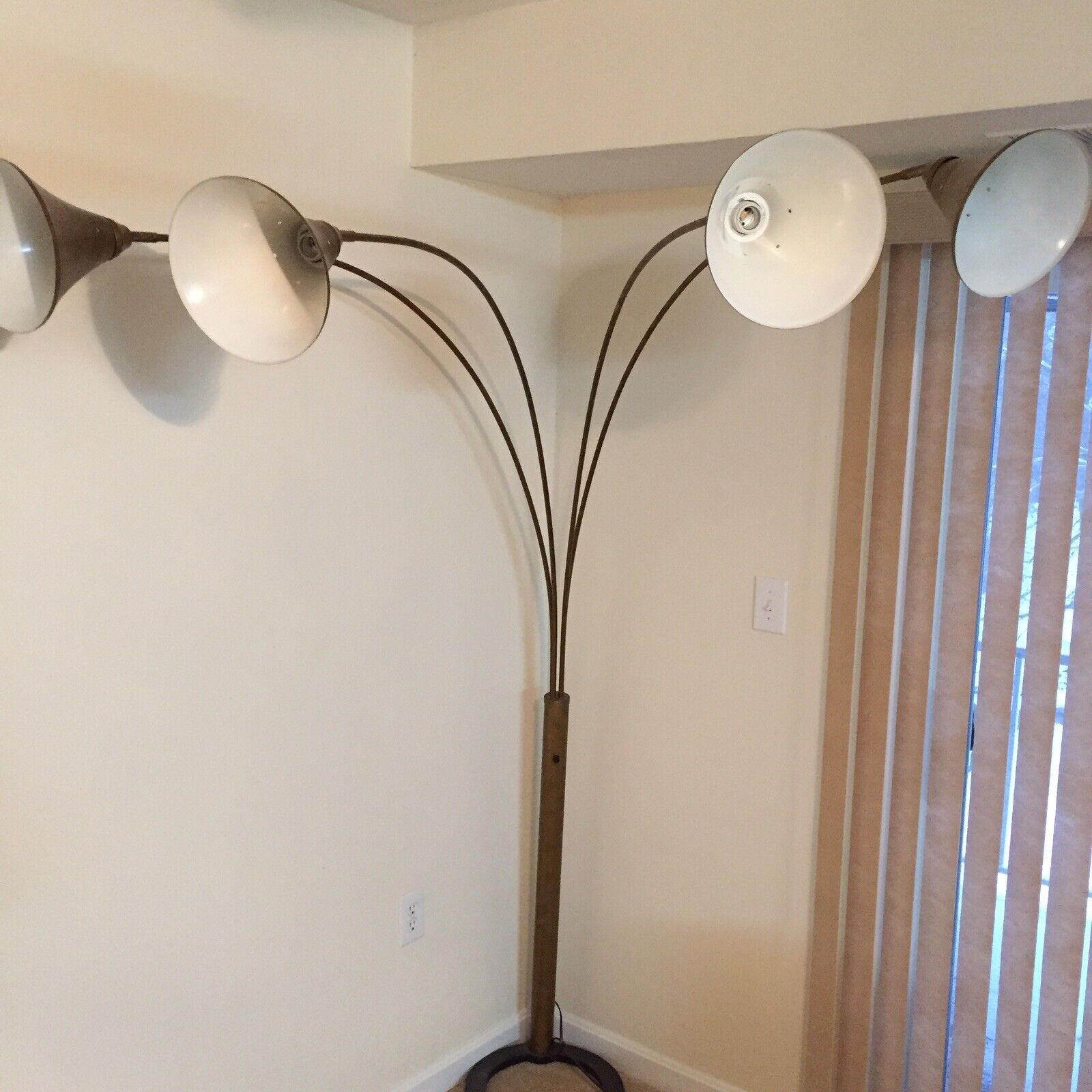 4 Arm Rustic Floor Lamp