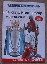 2005/06 Barclays Premiership Booklet Liverpool Man United Arsenal Chelsea Spurs