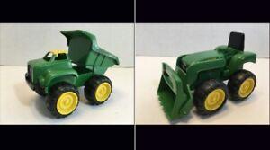 John-Deere-Front-End-Loader-Tractor-By-Ertl-Die-Cast-amp-Plastic-amp-Dump-Truck-6-034