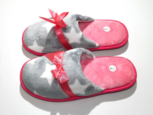 Ladies Women Soft Warm Fleece Flat Mule Comfortable Winter Slippers UK Sizes 3-8