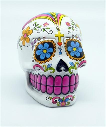 Gothic White Day of the Dead Skull Box!  pagan wicca witch