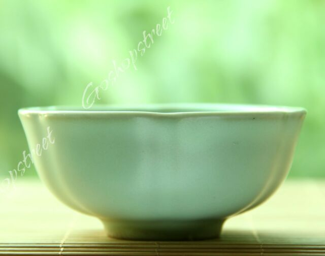 40ml Sky Cyan Ru Kiln Ru Yao Celadon Lotus flower Chinese Gongfu Tea Cup Teacup