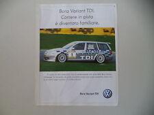 advertising Pubblicità 2001 VOLKSWAGEN BORA VARIANT TDI
