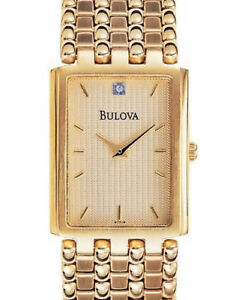 Bulova-97F19-Rectangle-1Diamond-Gold-Tone-Bracelet-S-s-gold-Dial