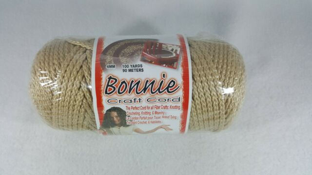 Jute Color Bonnie Macrame Craft Cord 4mm 100 Yards