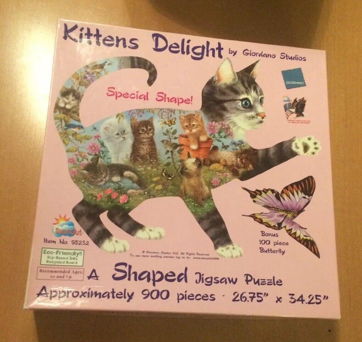 SunsOut Fishing Kittens 1000 Pc Shaped Jigsaw Puzzle