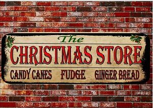Image Is Loading Vintage Style Christmas Store Sign Wall Plaque
