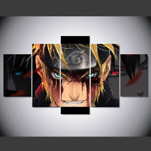 Details About Naruto Anime Paintings 5 Piece Canvas Wall Art Print Home Decor