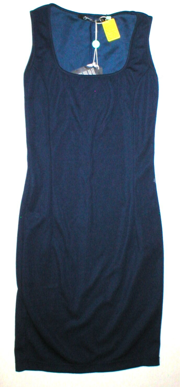 New Womens 6 NWT Designer Mary Jane  40 Dress Dark bluee Sleeveless Navy